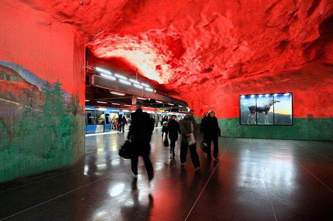 Metro Stockholm Station Art 14 Les stations du Métro de Stockholm