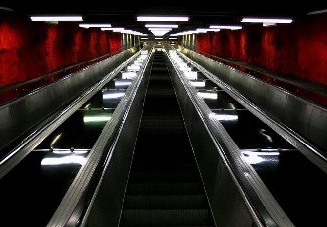 Metro Stockholm Station Art 16 Les stations du Métro de Stockholm