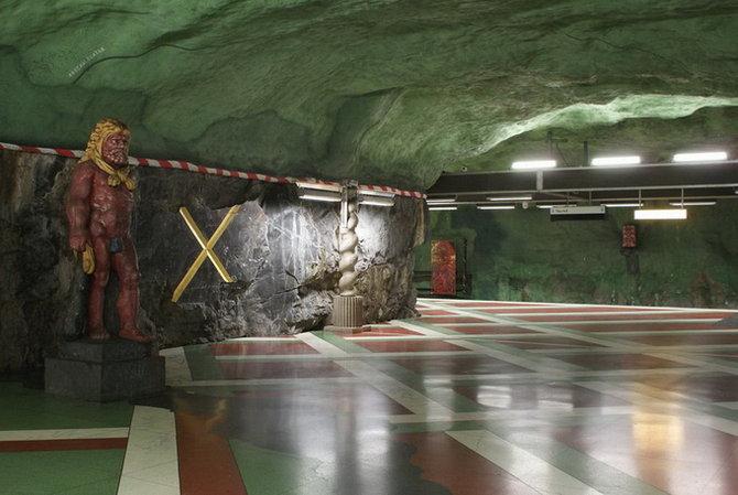 Metro Stockholm Station Art 17 Les stations du Métro de Stockholm