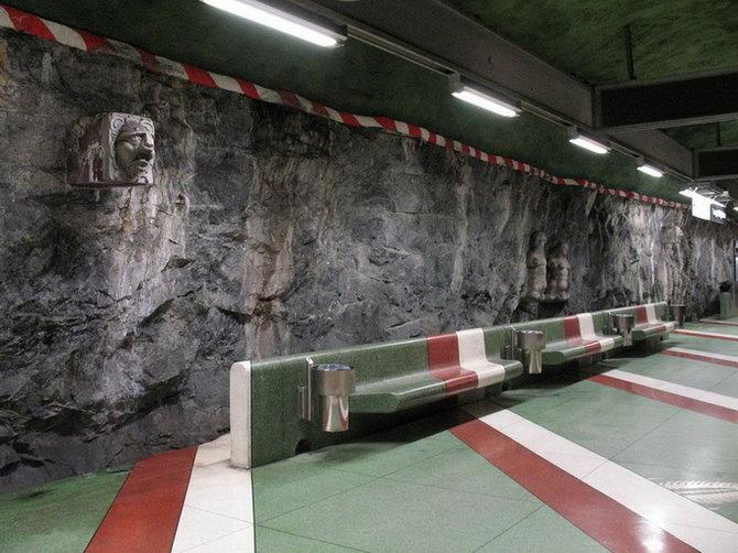 Metro Stockholm Station Art 21 Les stations du Métro de Stockholm