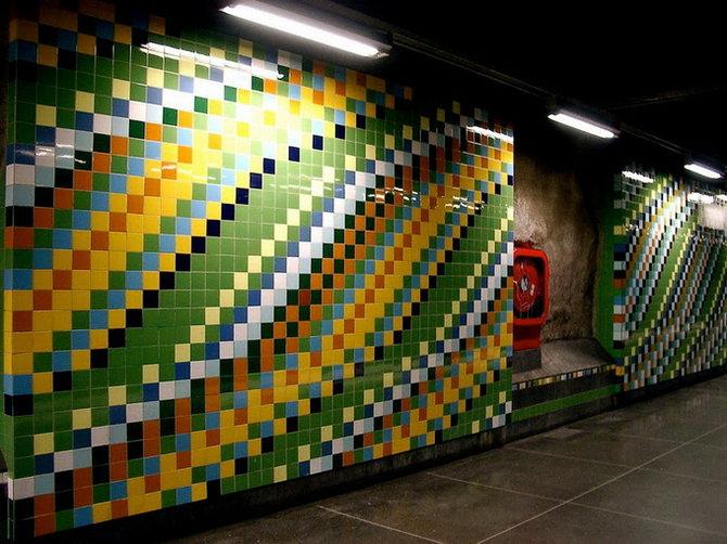 Metro Stockholm Station Art 27 Les stations du Métro de Stockholm
