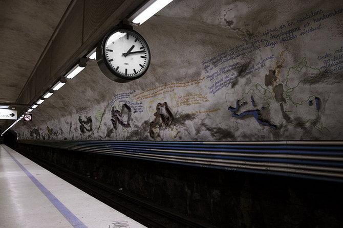 Metro Stockholm Station Art 29 Les stations du Métro de Stockholm