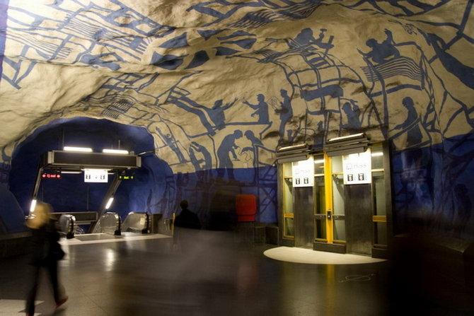 Metro Stockholm Station Art 31 Les stations du Métro de Stockholm