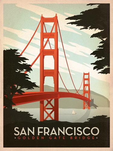 ces affiches au design vintage qui representent les plus importants sites touristiques aux usa sont creees par le studio andersondesign