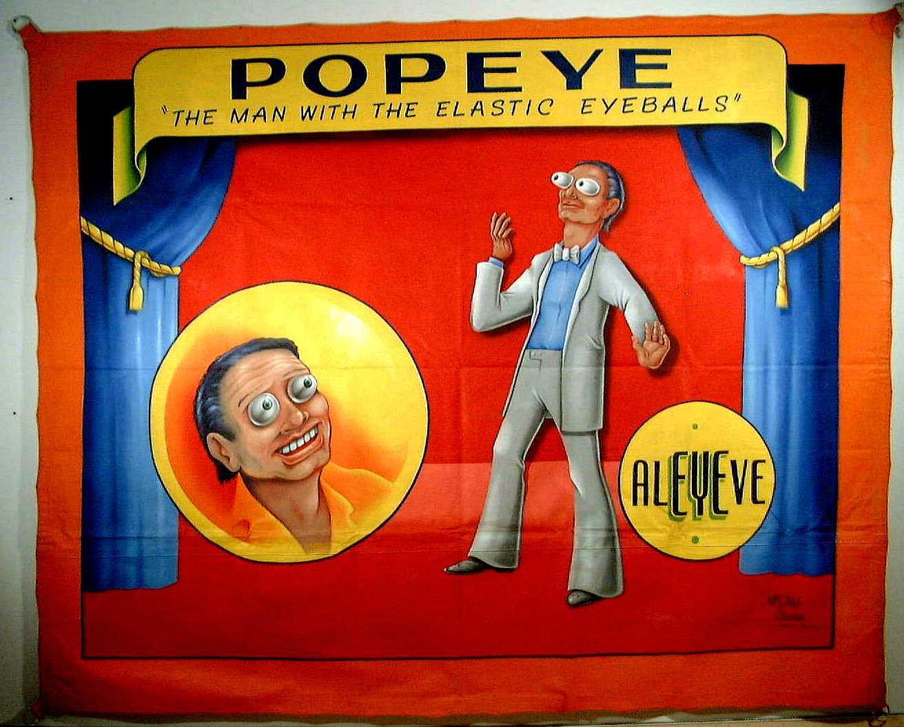 banniere publicite monstre fete forraine vintage 08 Bannières pour des spectacles de fêtes foraines