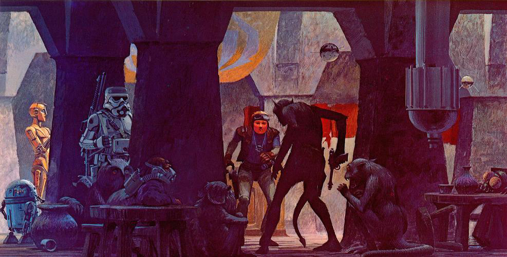 Les illustrations originales du storyboard de Star Wars ! By Laboiteverte Illustration-originale-storyboard-star-wars-02