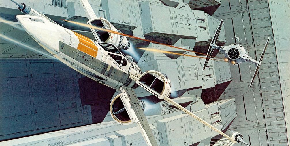 Les illustrations originales du storyboard de Star Wars ! By Laboiteverte Illustration-originale-storyboard-star-wars-11