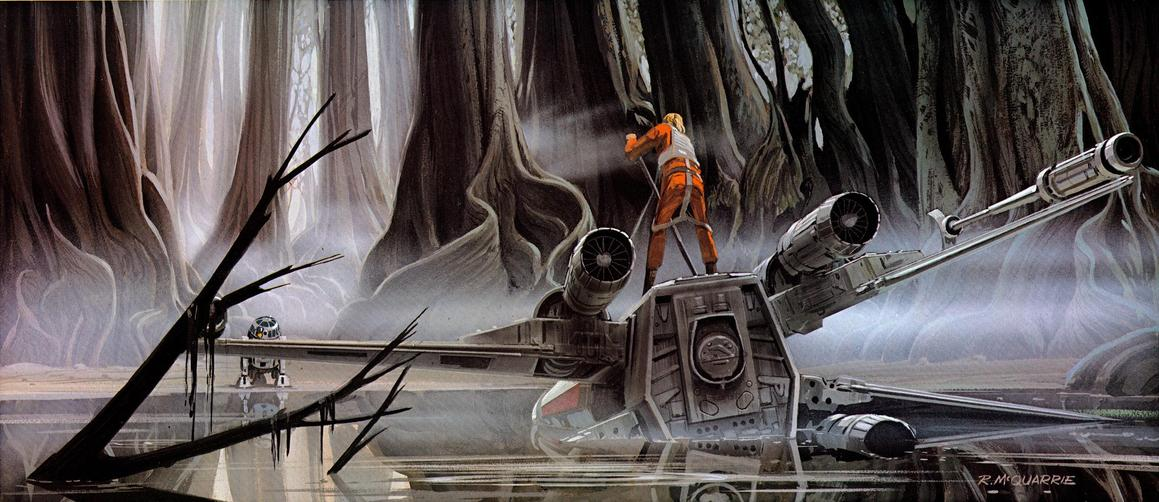 Les illustrations originales du storyboard de Star Wars ! By Laboiteverte Illustration-originale-storyboard-star-wars-21