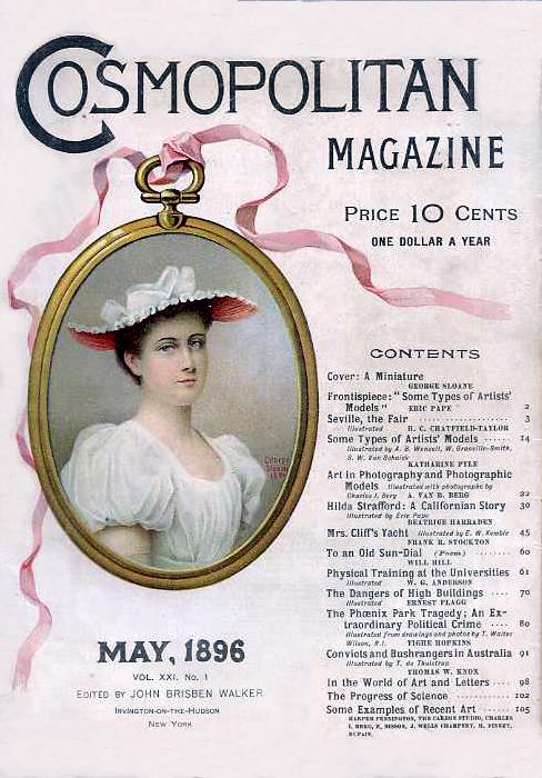 Histoire COSMOPOLITAN MAGAZINE 01 Historique des couvertures de Cosmopolitan Magazine de 1896 à 1976