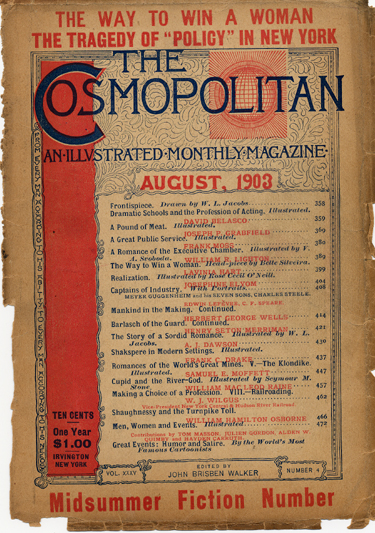 Histoire COSMOPOLITAN MAGAZINE 02 Historique des couvertures de Cosmopolitan Magazine de 1896 à 1976