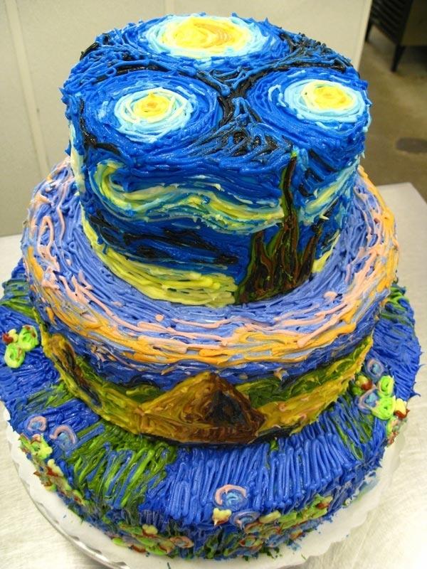 Van Gogh gateau Van Gogh, les parodies et les geeks