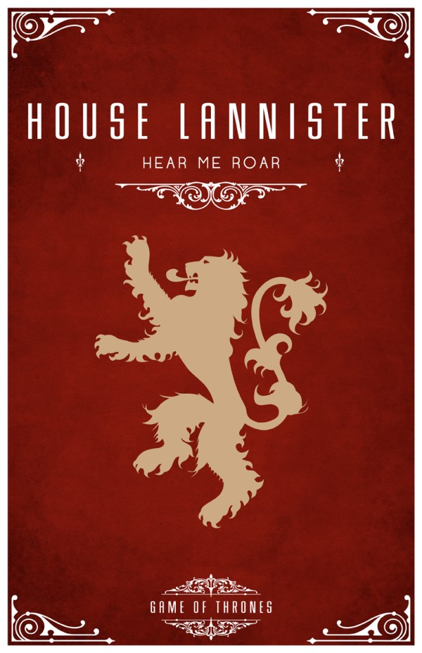 affiche minimaliste poster tv game of thrones 01 Affiches minimalistes pour Game of Thrones