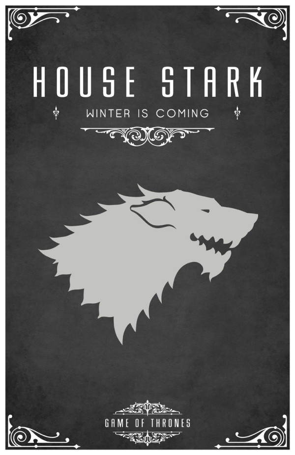 affiche minimaliste poster tv game of thrones 02 Affiches minimalistes pour Game of Thrones