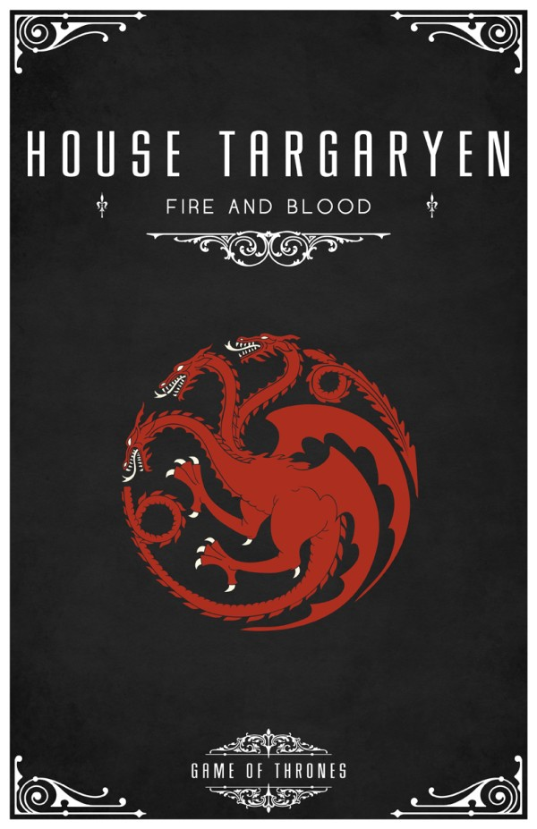 affiche minimaliste poster tv game of thrones 04 Affiches minimalistes pour Game of Thrones