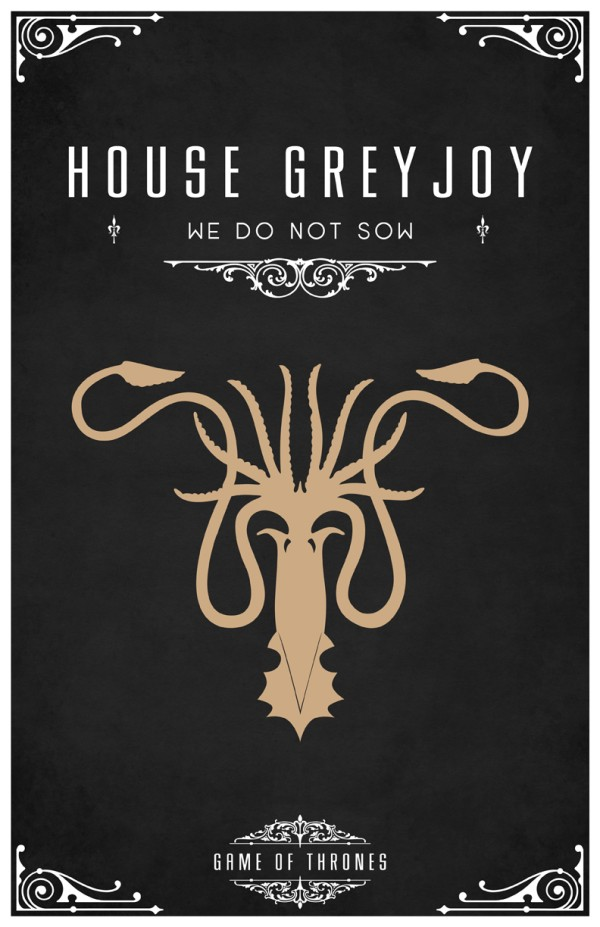 affiche minimaliste poster tv game of thrones 08 Affiches minimalistes pour Game of Thrones