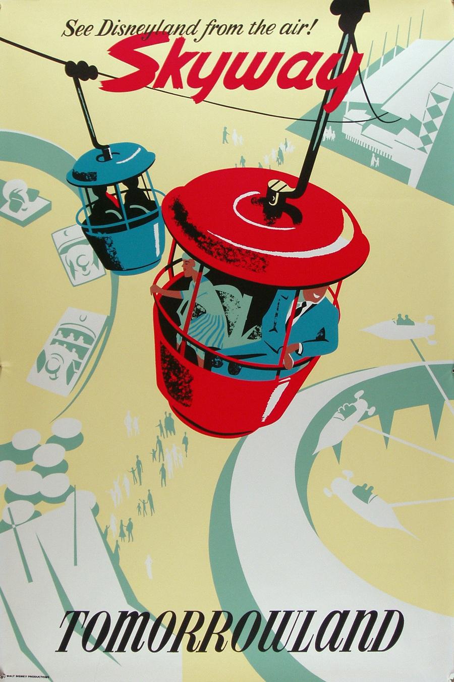 Affiches vintage pour Disneyland affiche vintage disneyland futuriste 05