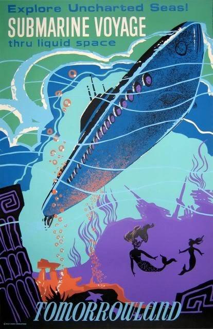 Affiches vintage pour Disneyland affiche vintage disneyland futuriste 06