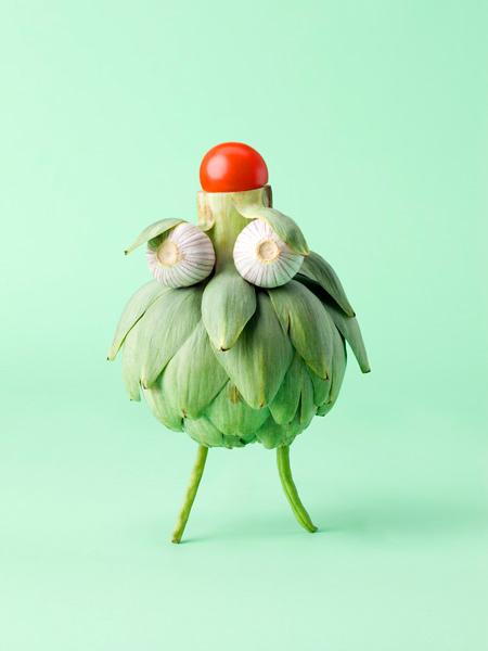 animaux legumes cark kleiner 06 Les animaux en fruits et légumes de Carl Kleiner
