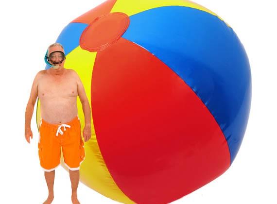 ballon-gonflable-plage-geant