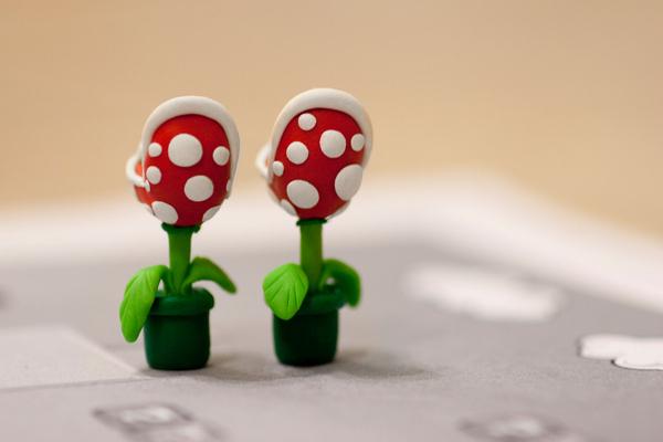 Boucles doreilles en plantes Piranha de Mario boucle oreille plante Piranha Mario 05