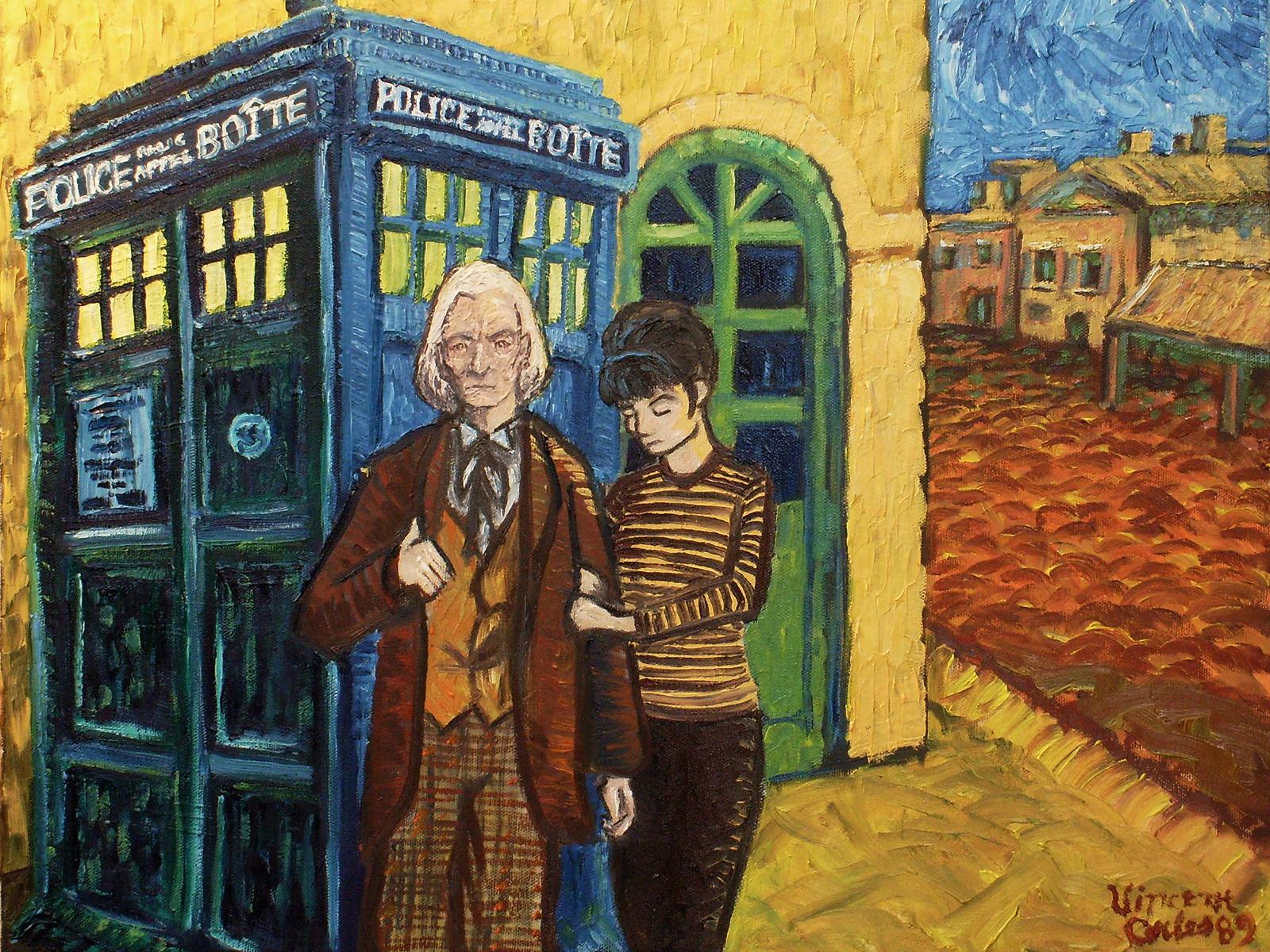 doctor who van gogh tardis france Van Gogh, les parodies et les geeks