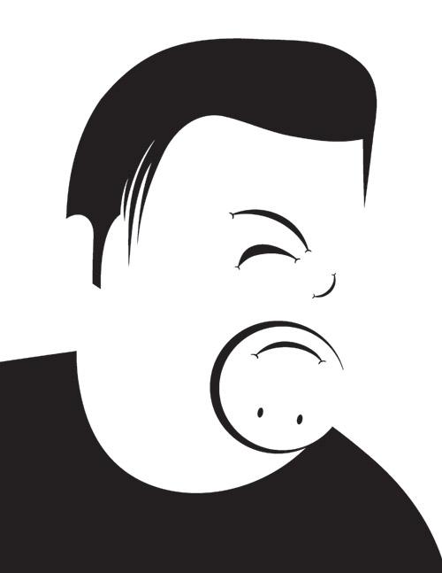 noma bar personnages espace negatif 12 Les personnages illustrés de Noma Bar