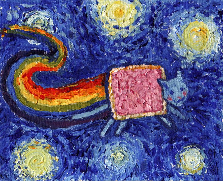 nyan cat van gogh Van Gogh, les parodies et les geeks
