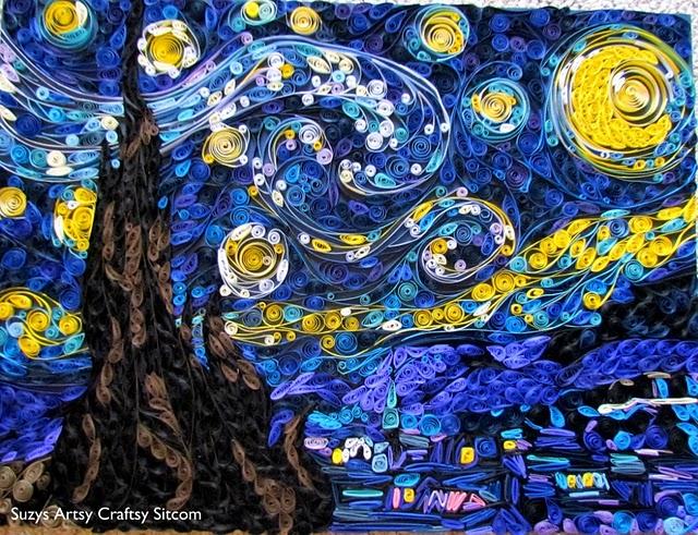 papier roule van gogh Van Gogh, les parodies et les geeks