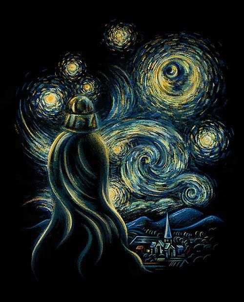 sn vader Van Gogh, les parodies et les geeks