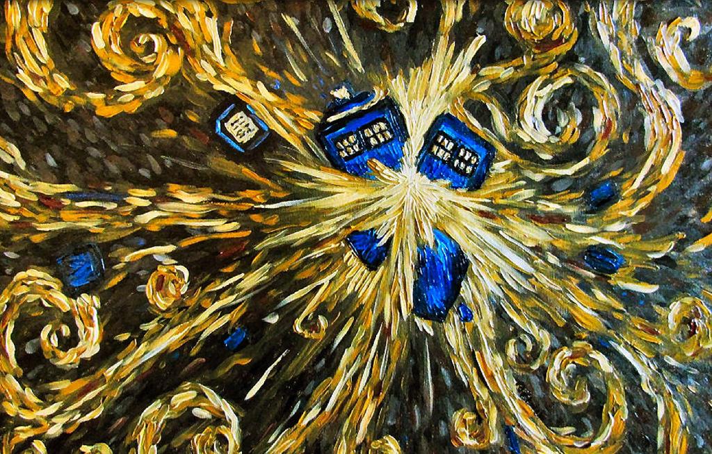 tardis explosion docteur who van gogh Van Gogh, les parodies et les geeks