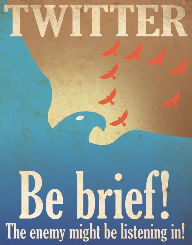 twitter propagande Affiches de propagande pour Twitter, Facebook et Google Plus