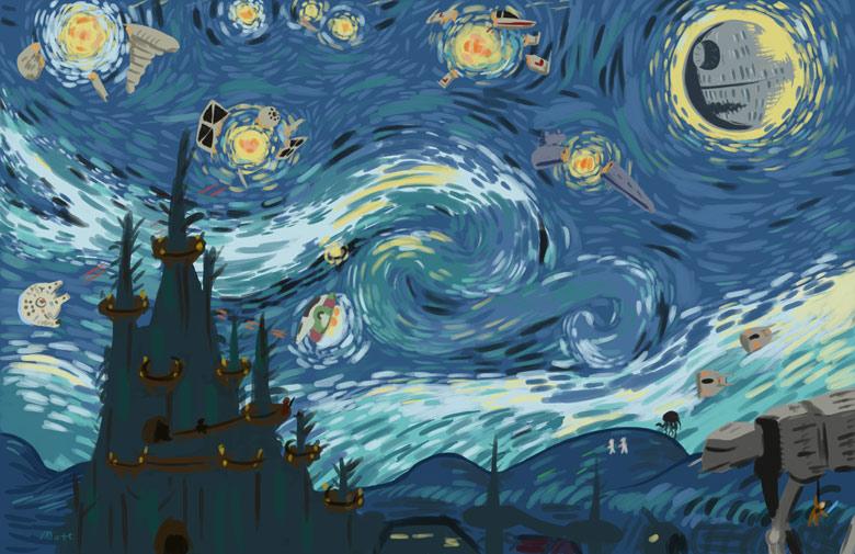 van gogh etoile noire Van Gogh, les parodies et les geeks