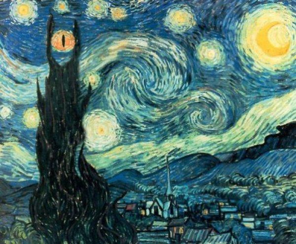 van gogh sauron mordor Van Gogh, les parodies et les geeks