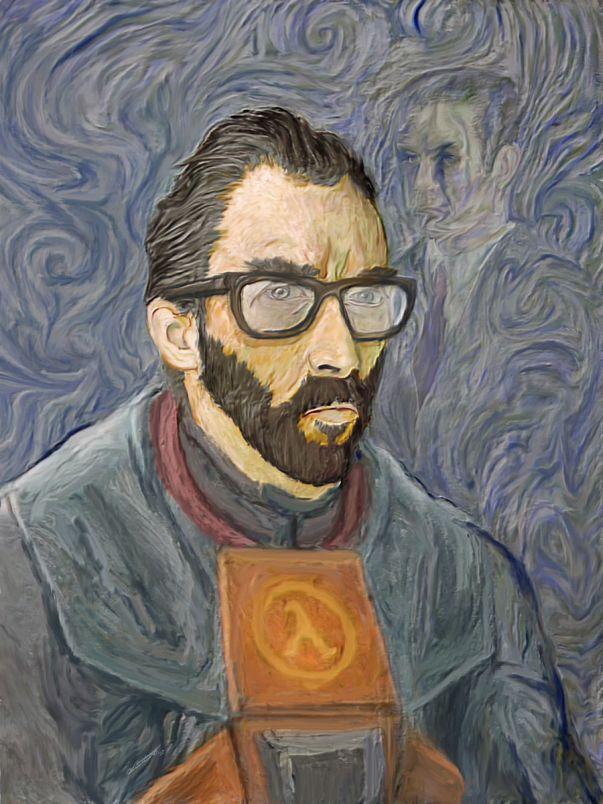 vincent van gogh gordon half life Van Gogh, les parodies et les geeks