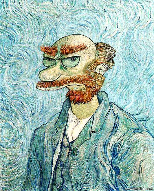 willie simpsons van gogh Van Gogh, les parodies et les geeks