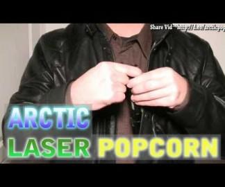 Du popcorn avec des lasers