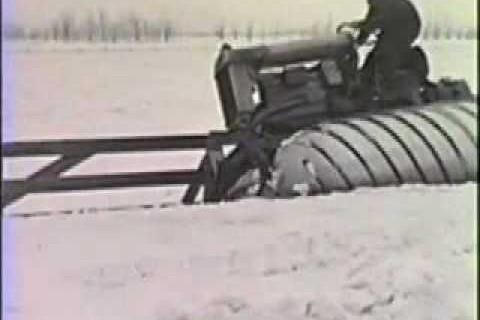 Prototype de tracteur pour la neige en 1924