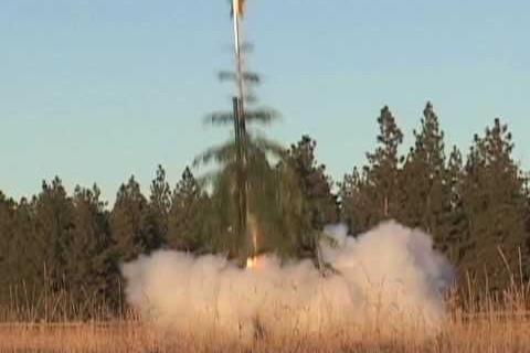 Le sapin de noël fusée