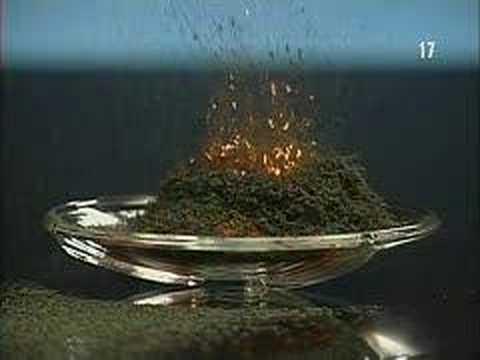 Faire un volcan avec du Dichromate d'Ammonium