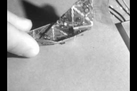 Des origamis électroniques