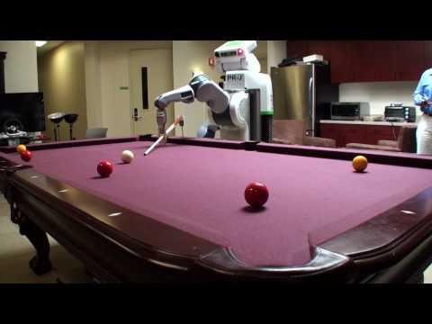 Un robot qui joue au billard