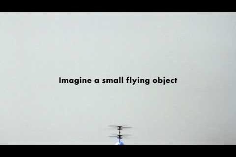 Hologrammes 3D avec des hélicoptères miniatures
