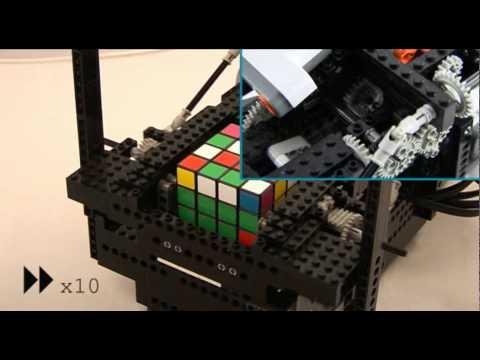 Résoudre un Rubik's Cube avec des Lego et un Nokia N95