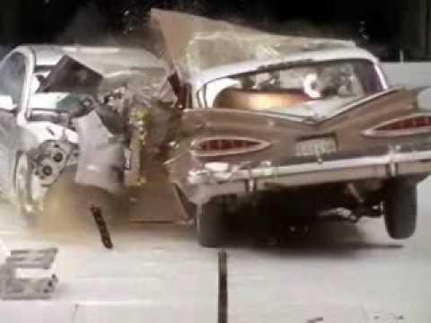 Crash Test de voitures de 1959 et 2009