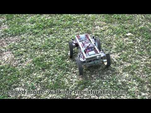 Un robot avec des roues qui se transforment en pattes