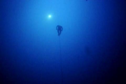 Apnée à 100m de profondeur