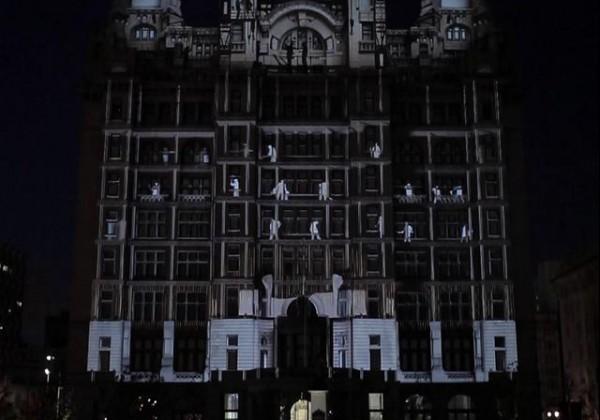 Projections vidéos intégrés sur des bâtiments