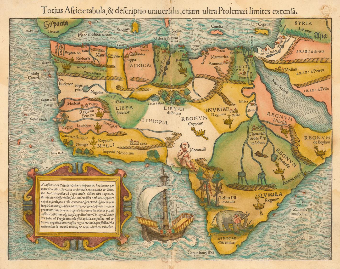 Carte De Lafrique Maghreb.Evolution Des Cartes De L Afrique