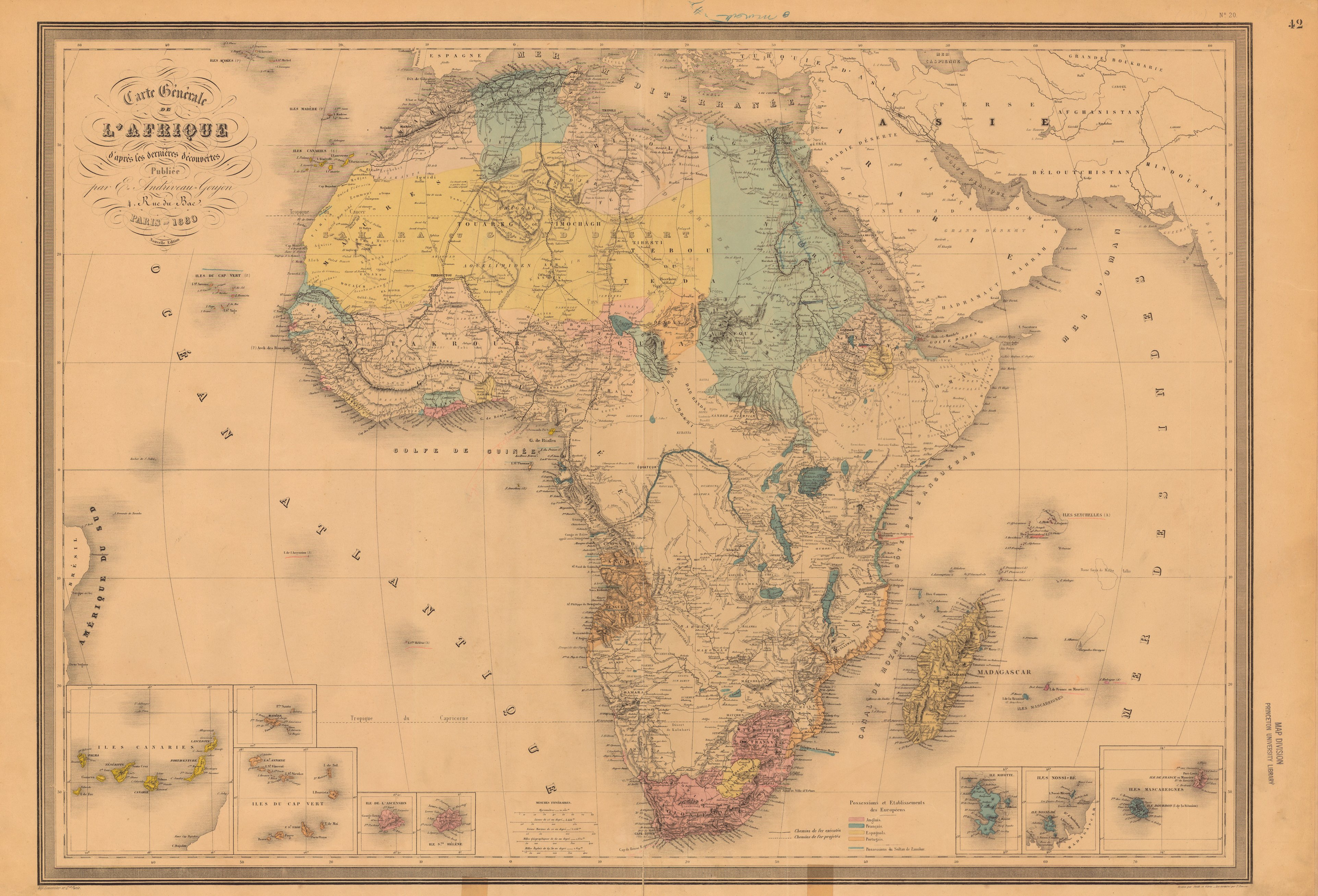 Bien-aimé Evolution des cartes de l'Afrique NY45