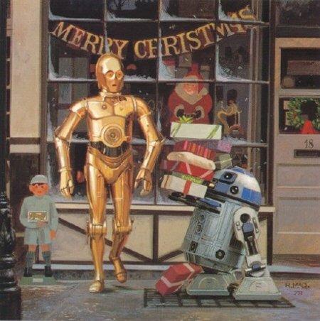 carte voeux lucasfilm star wars noel 02 Les cartes de voeux de Noël Star Wars de LucasFilm